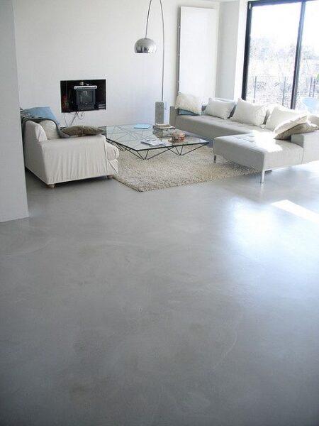 piso de microcemento pulido