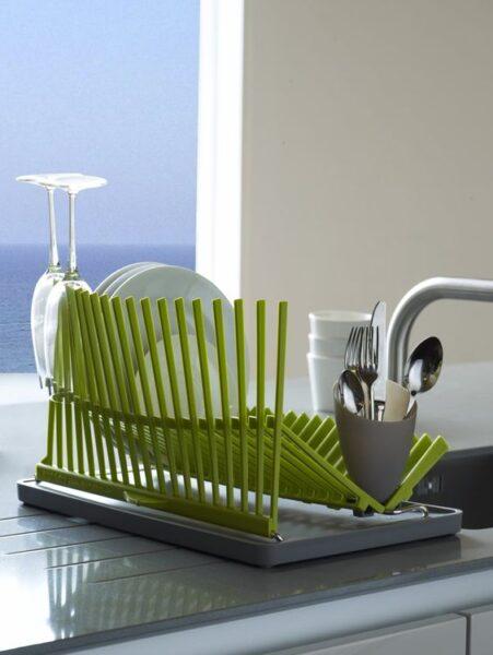 secador de plato verde lima para cocina