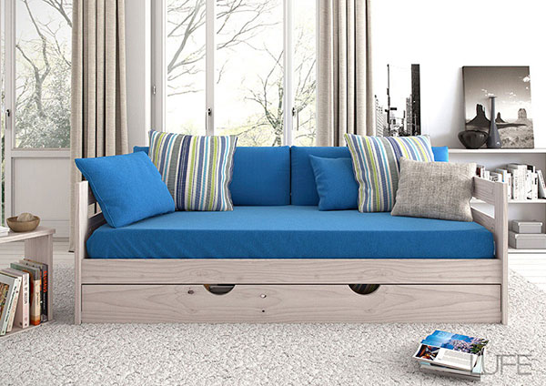 soafa cama divan madera