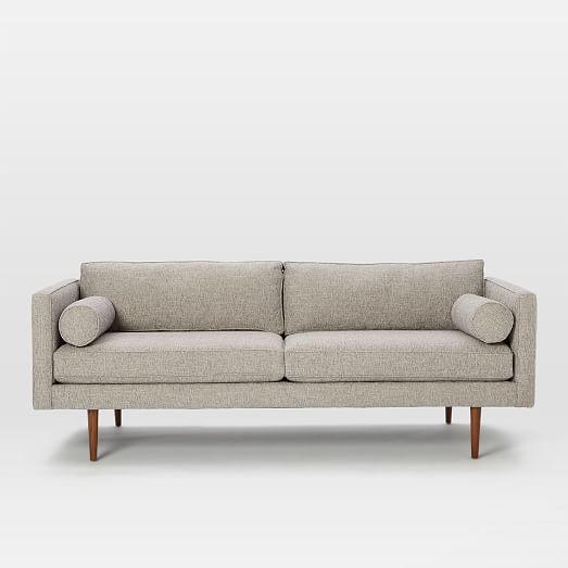 sofa reto moderno Mid century