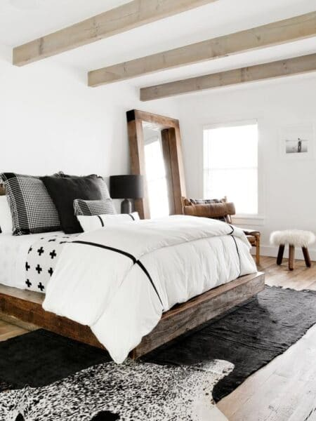 Cuarto rustico minimalista moderno