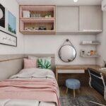 Dormitorio pequeño juvenil para mujer