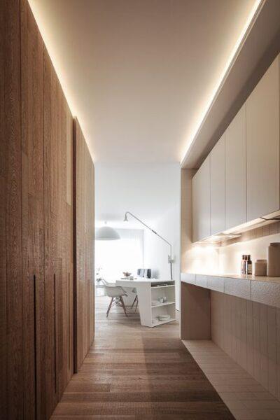 Iluminacion moderna para pasillo