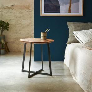 Mesa de noche redonda minimalista