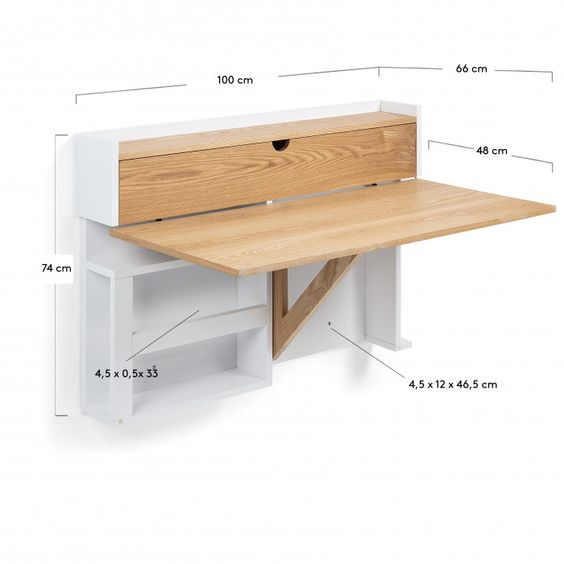 Modelo de escritorio rebatible con mueble moderno