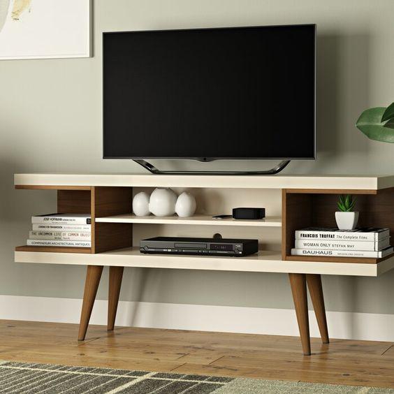Mueble escandinavo abierto para television