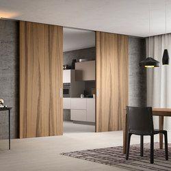 Puertas correderas doble hojas de madera moderna