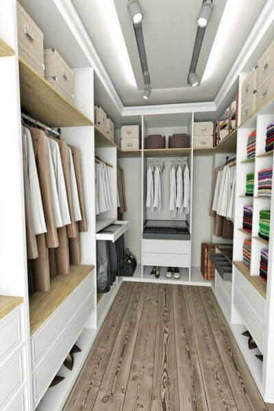 Vestidores pequeños doble armario