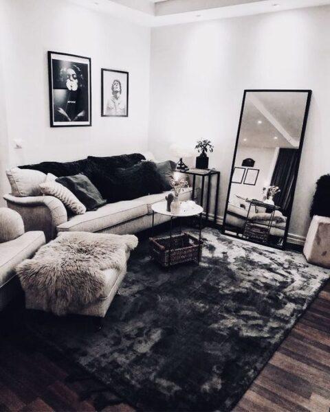 alfombra osura en pisos oscuros