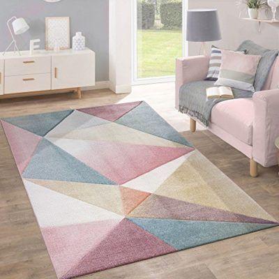 alfombra para sala de estar geometrica