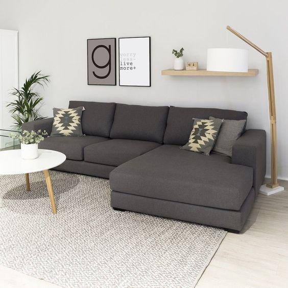 alfombra para sala de estar gris clara
