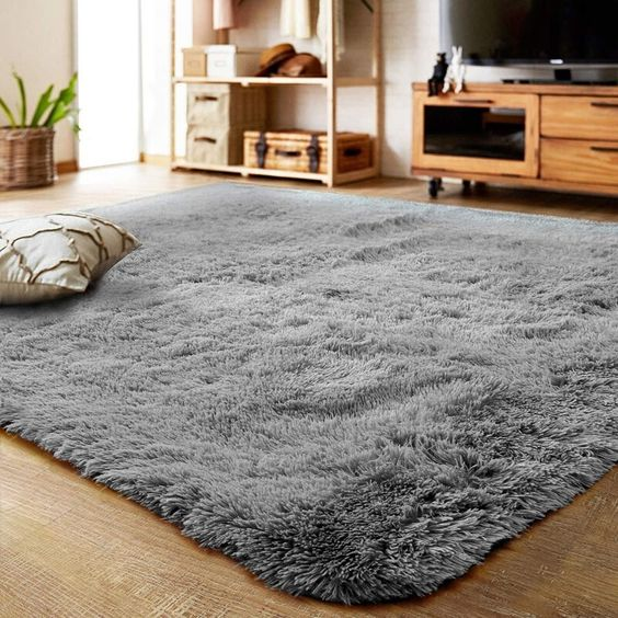 alfombra peluda para sala de estar