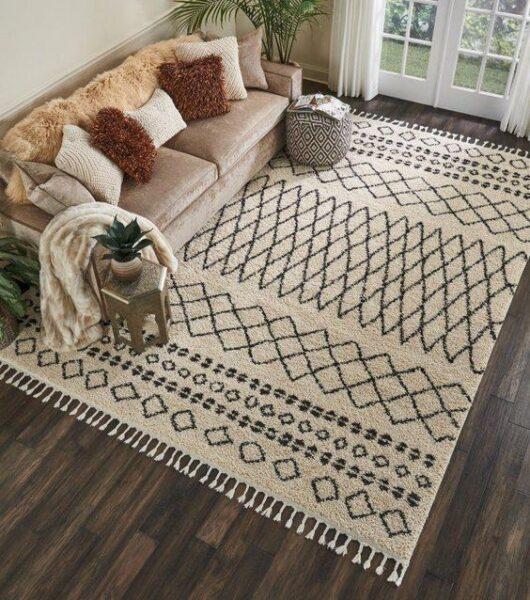alfombra rusticas para pisos oscuros de living