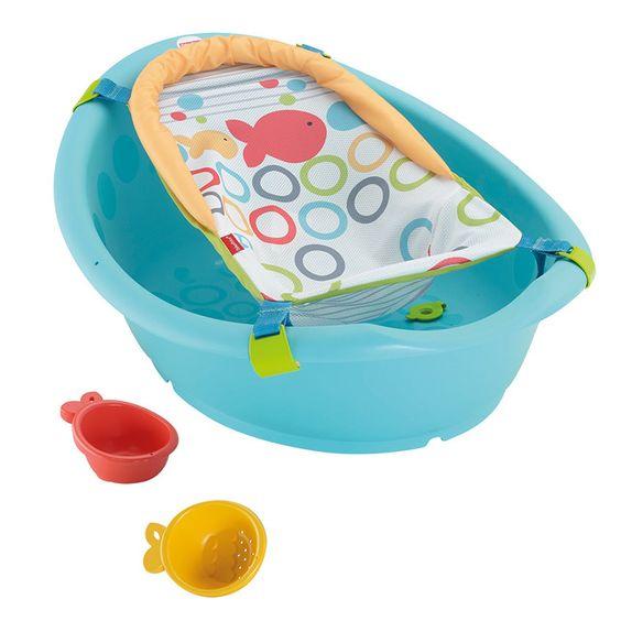 bañera para bebe con adaptador estampado