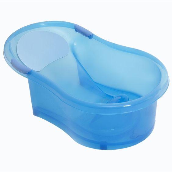 bañera para bebe plastica celeste