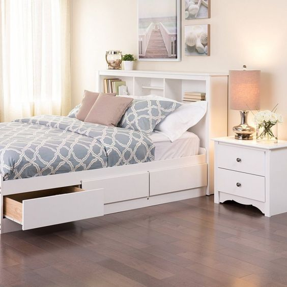 cama con cajones laterales