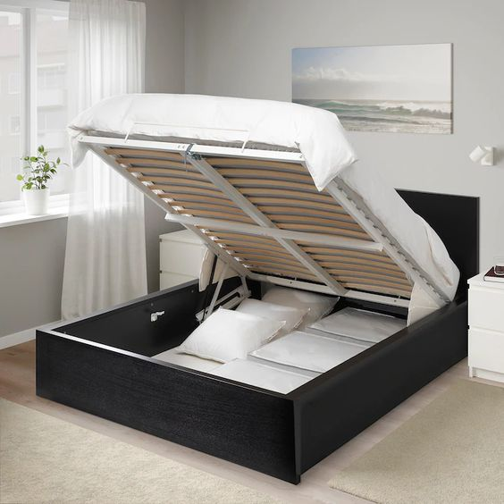 camas con almacenamiento de dos plazas