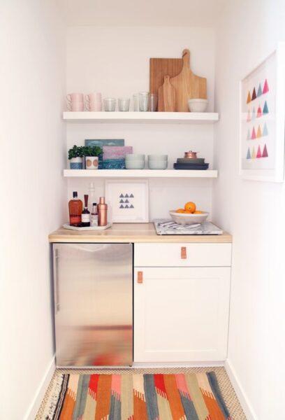 cocina pequeña kitchenette moderna