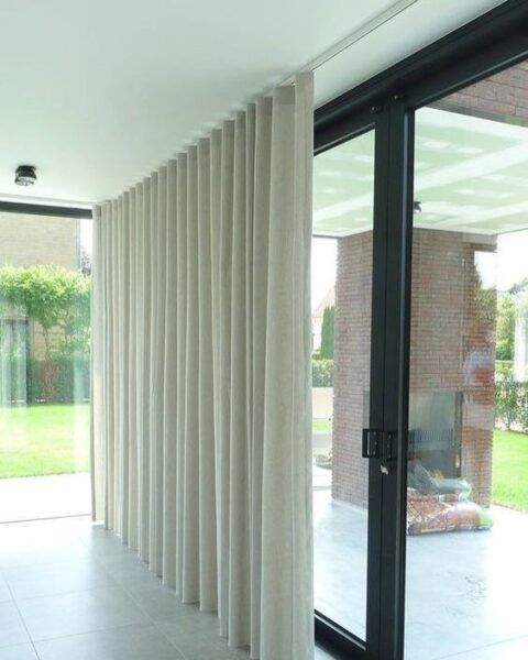 cortinas con rieles de tela