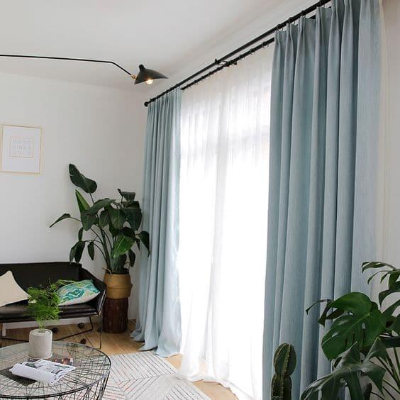cortinas de algodon modernas