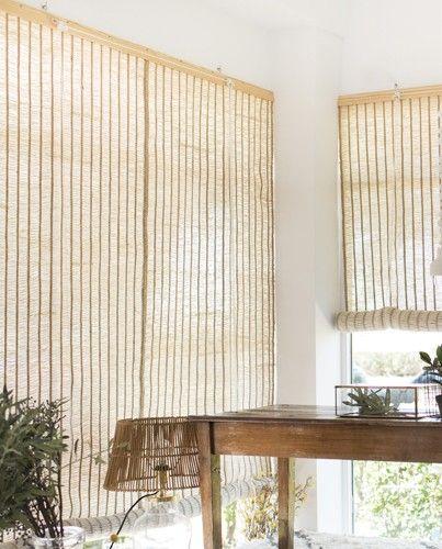 cortinas de yute o rafia