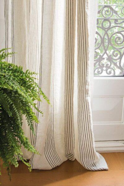cortinas rayadas finas modernas