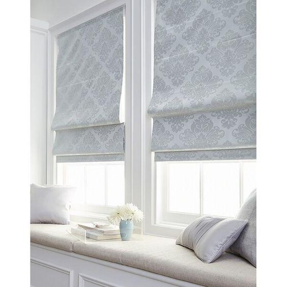 cortinas romana estampada para sala de estar moderna
