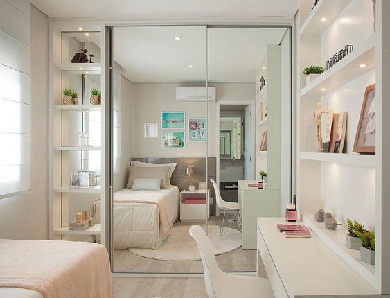 decoracion de dormitorio chico para mujer adolescente