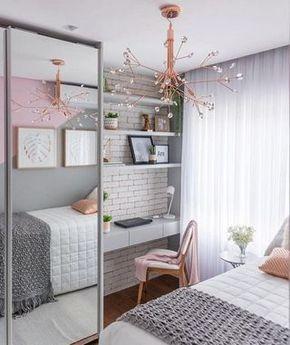 decoracion de dormitorio juvenil femenino pequeño