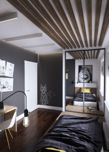 dormitorio juvenil para varon moderno