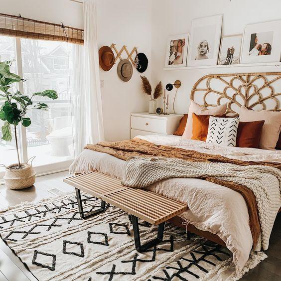 dormitorio rustico moderno con madera clara
