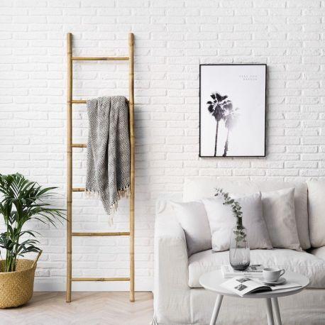 escalera de caña de bambu