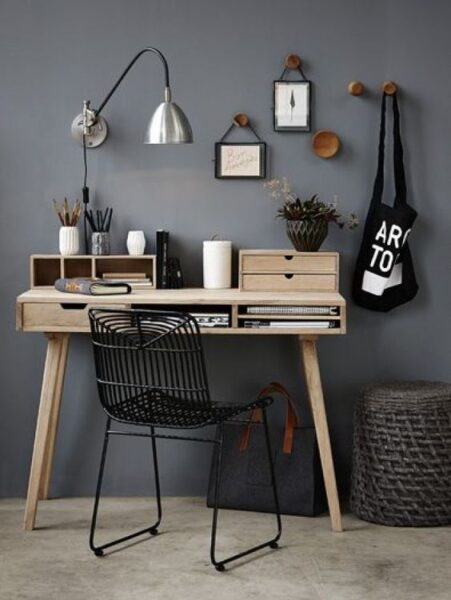 escritorio de tablas de bambu