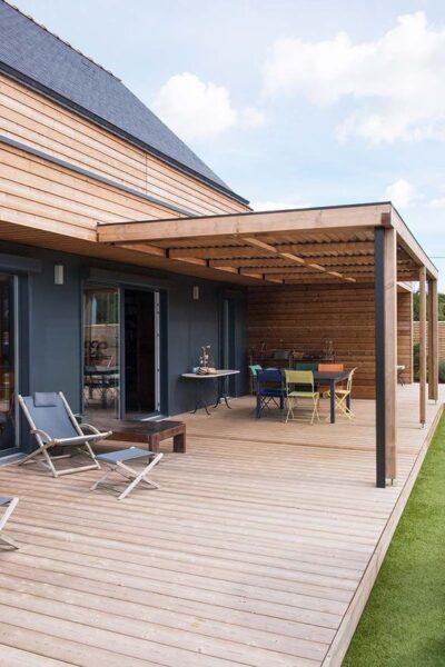 galeria de casas de madera con deck