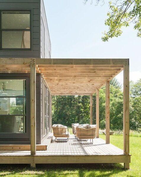 galeria de madera para casas modernas