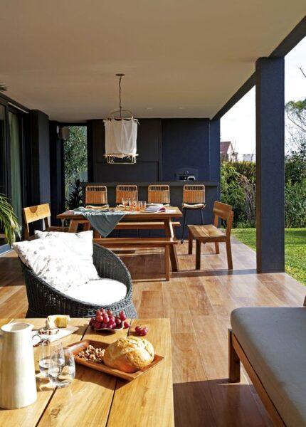ideas para decorar galerias de casas modernas
