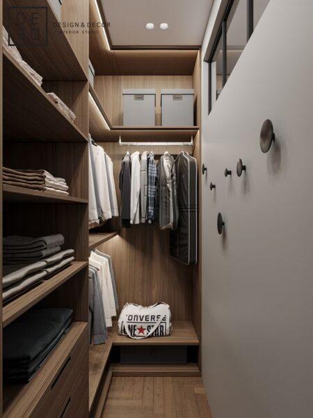 ideas para vestidor pequeño para hombres