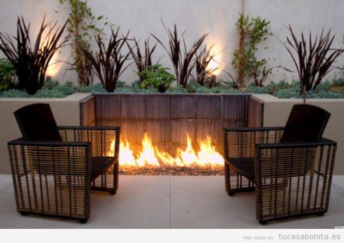jardin de invierno con calentador