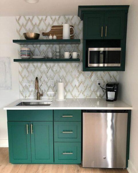 kitchenette elegante moderna