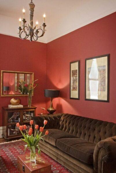 living rojo elegante y moderno