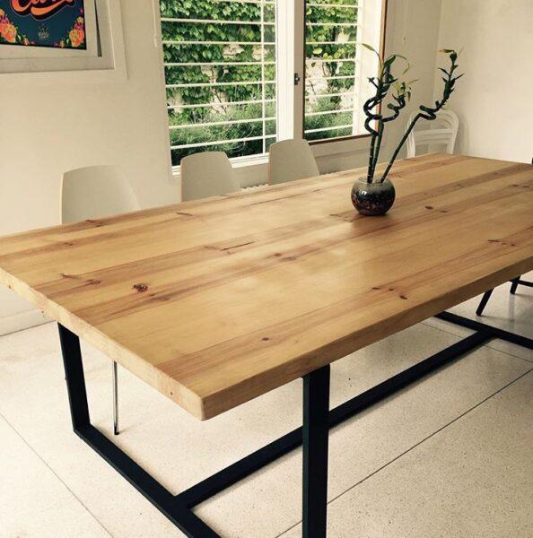mesa de pino muebles de madera