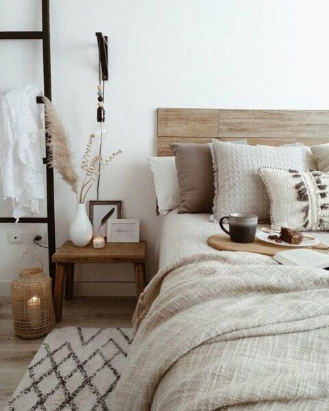 mesitas de luz para dormitorio rustico moderno