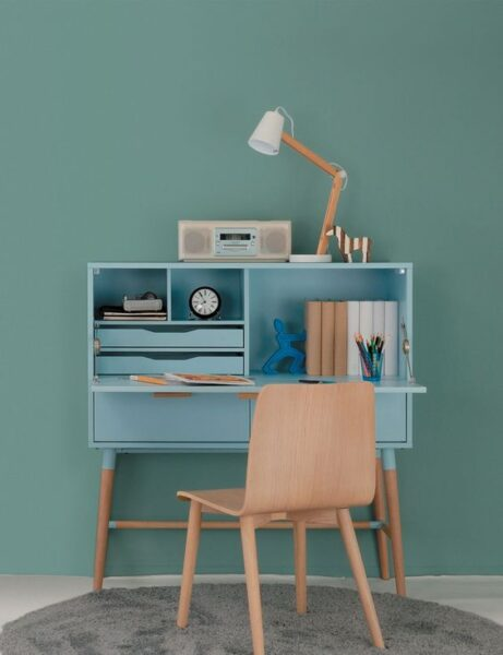 mueble con escritorio rebatible moderno escandinavo