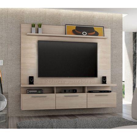 mueble de tv empotrado flotante