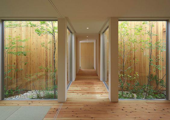 patio interno estilo japones moderno