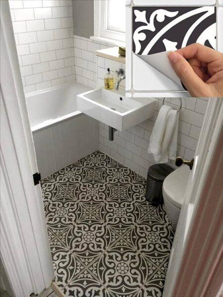 piso de vinilo en forma de baldosa