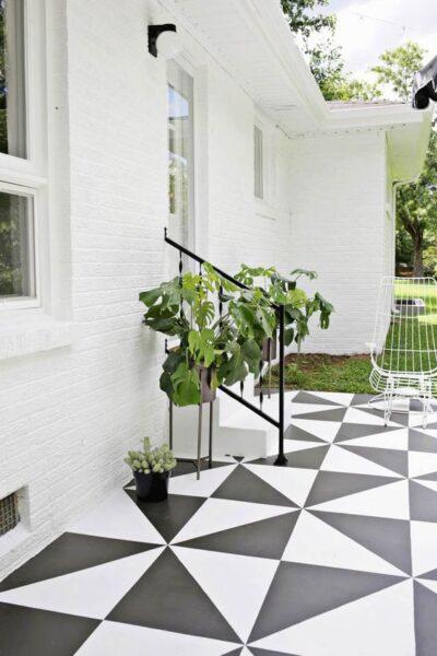 pisos de exterior pintados