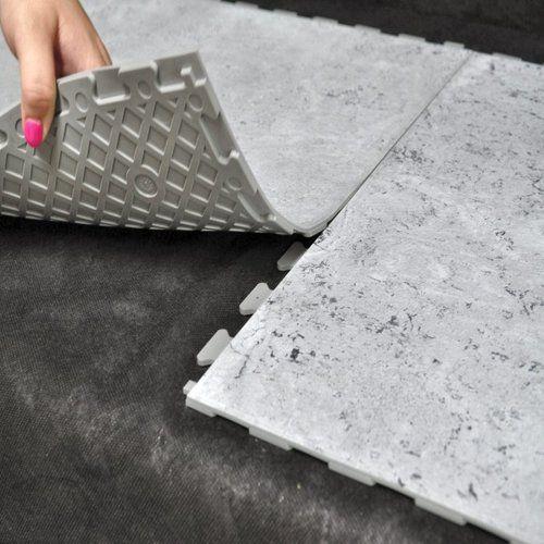 pisos de goma simil marmol