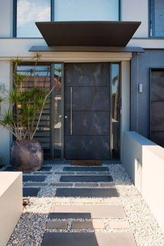 puerta de casa de acero