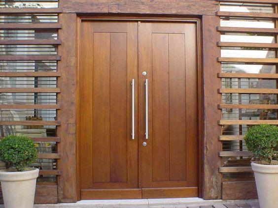 puerta de entrada doble de pvc